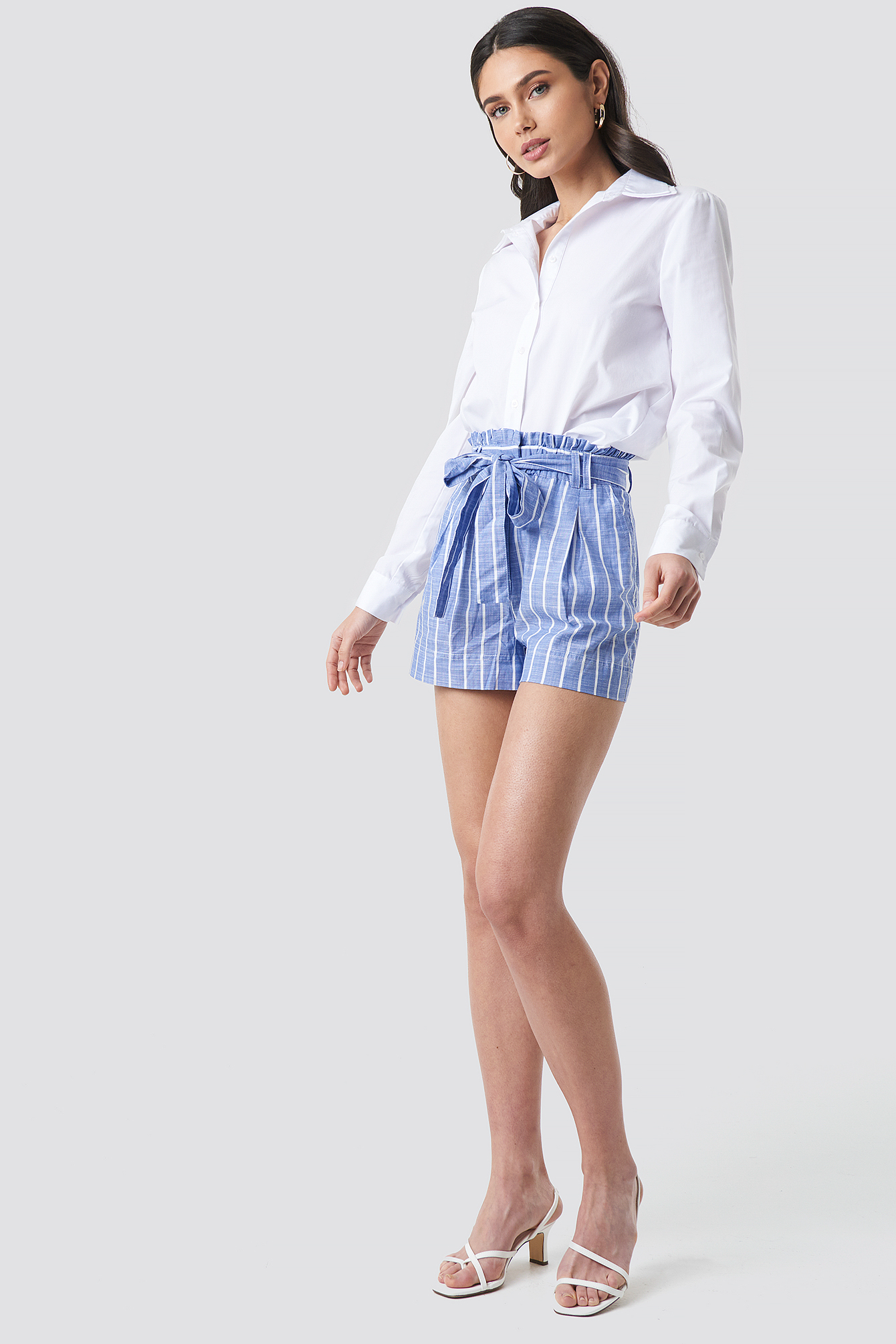 Striped Belt Shorts NA-KD.COM