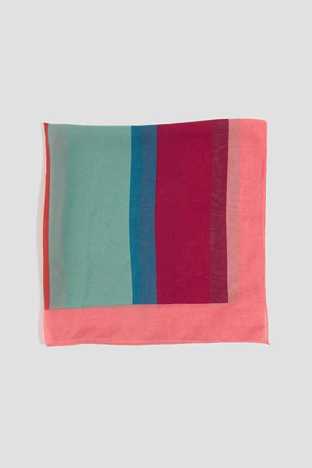 Striped Foulard Scarf Multicolor