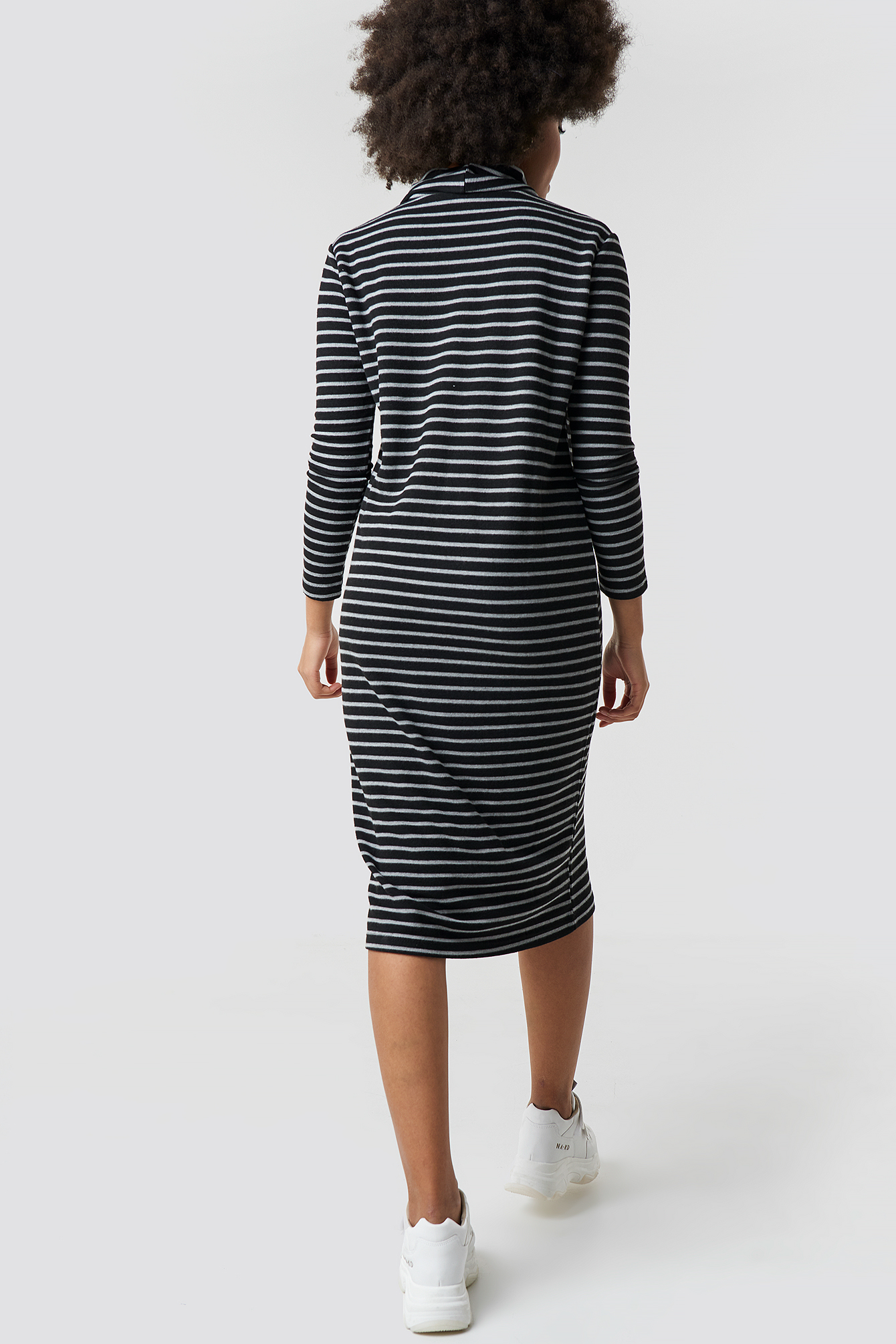 Striped Knitted Midi Dress NA-KD.COM