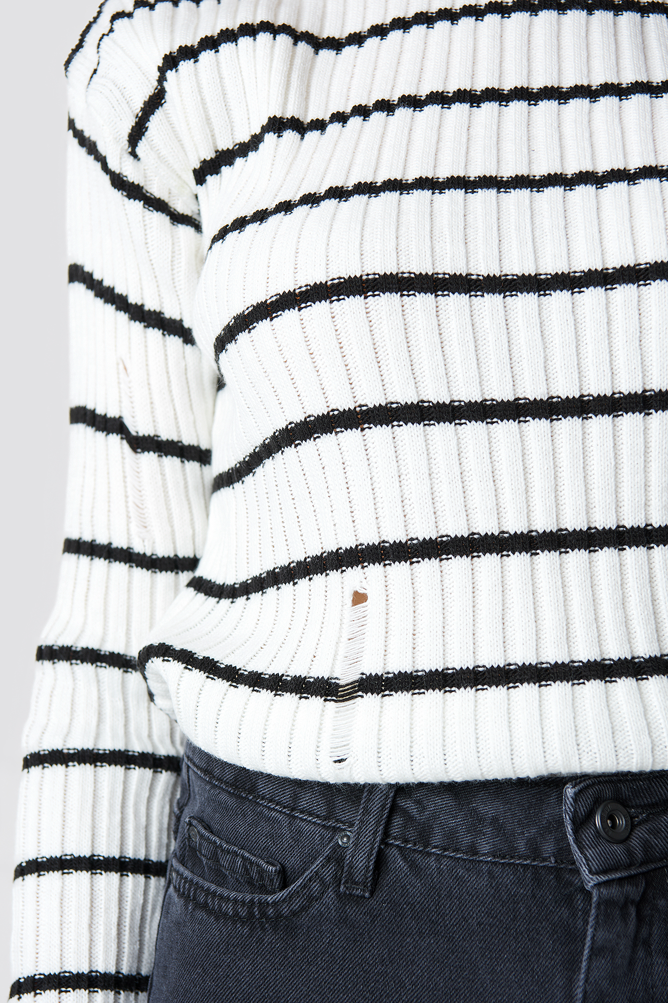 Striped Knitted Sweater NA-KD.COM