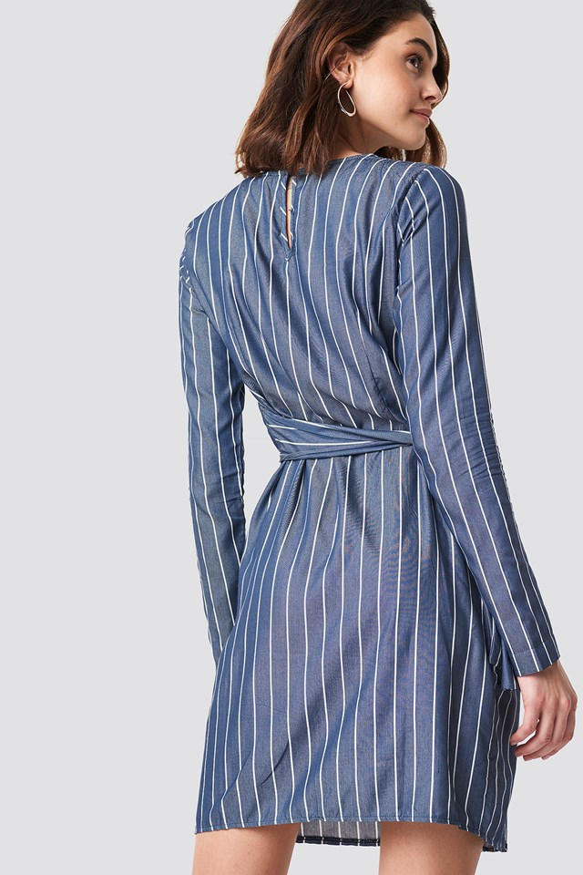 Striped Mini Dress Indigo