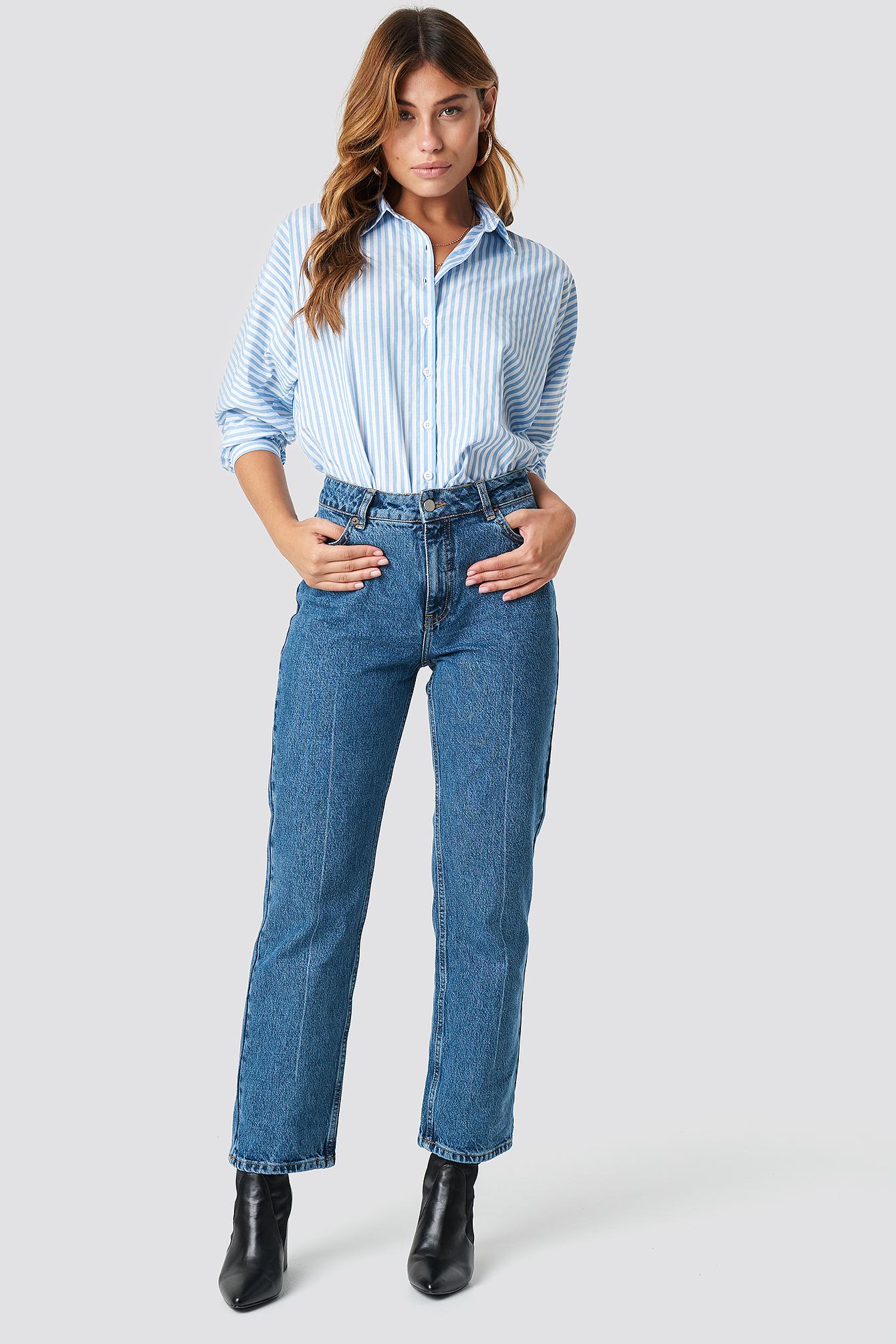 Striped Quarter Sleeve Shirt NA-KD.COM