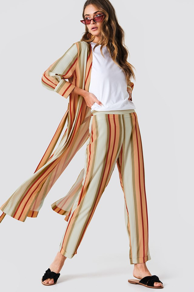 Striped Trousers Multicolor