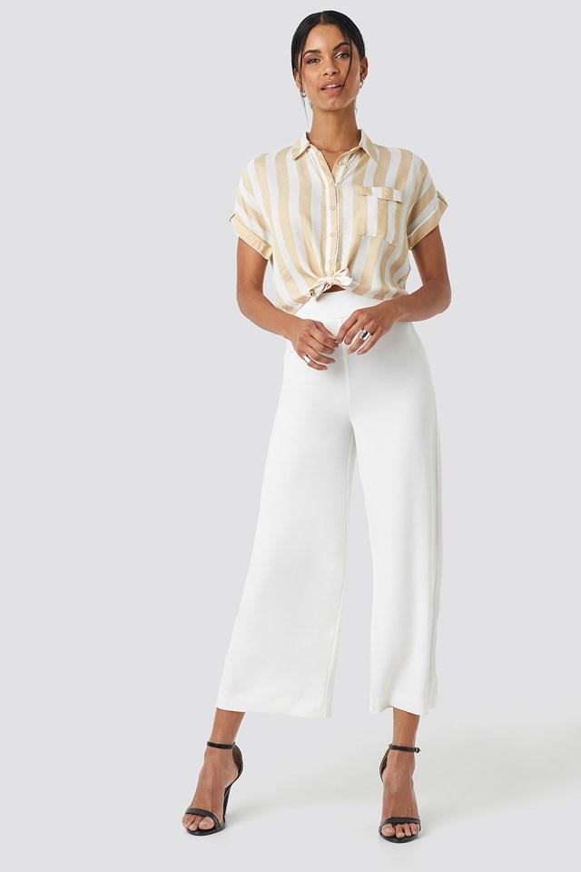 Striped Tulum Shirt Beige