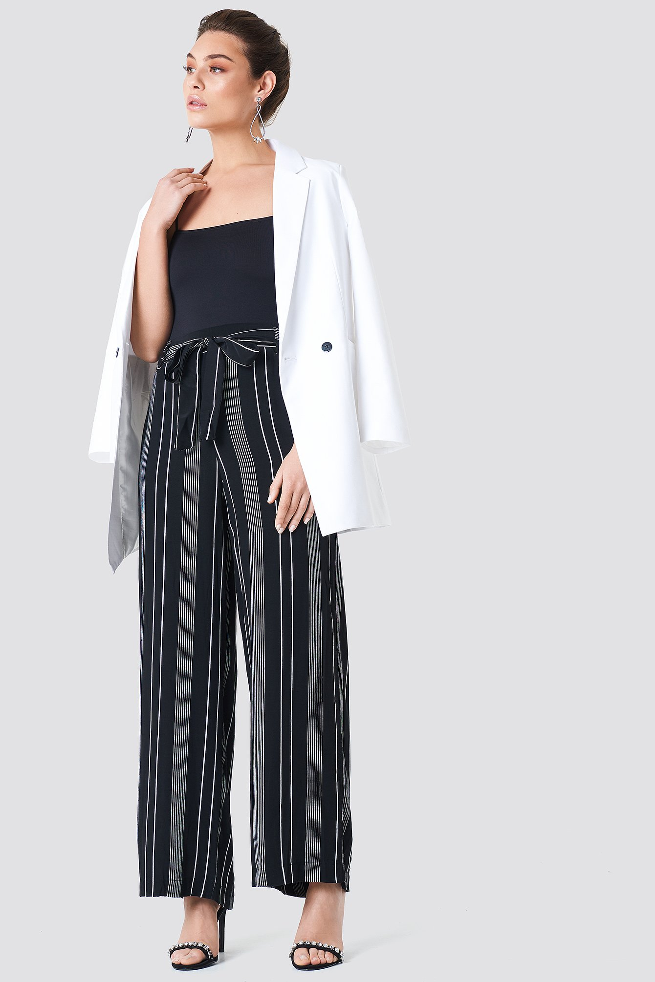 Striped Wide Pants NA-KD.COM