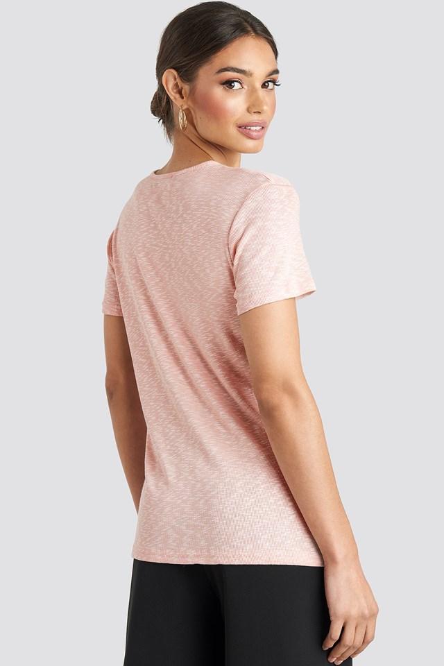 Structured Jersey Tee Powder Pink