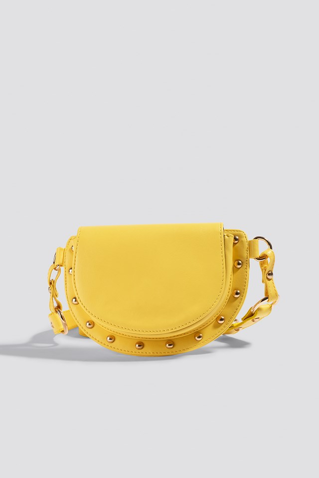 Studded Belt Bag Yellow