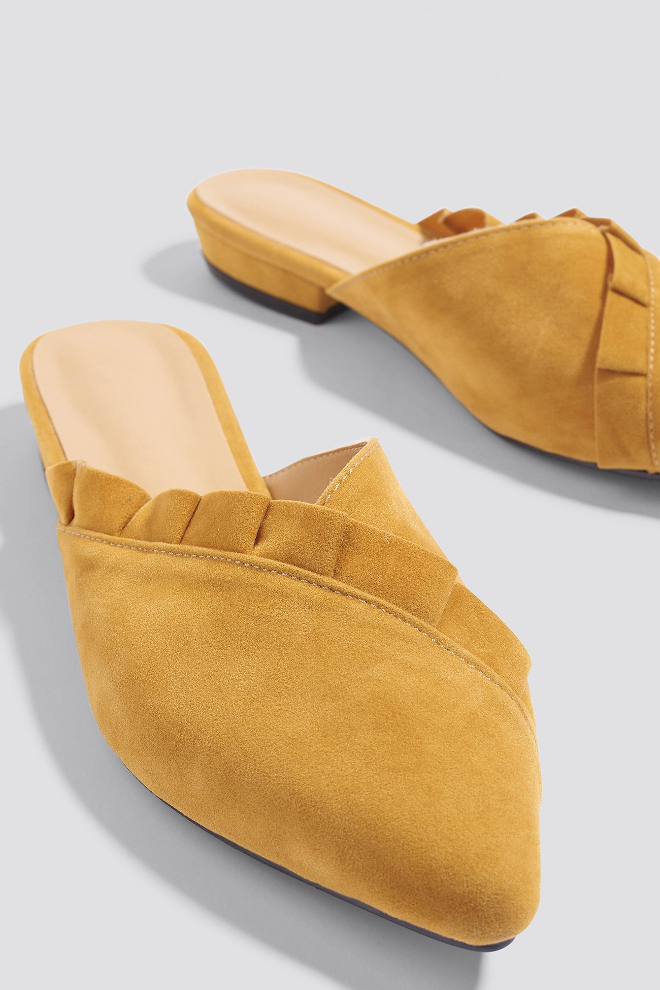 Mustard Suede Slippers