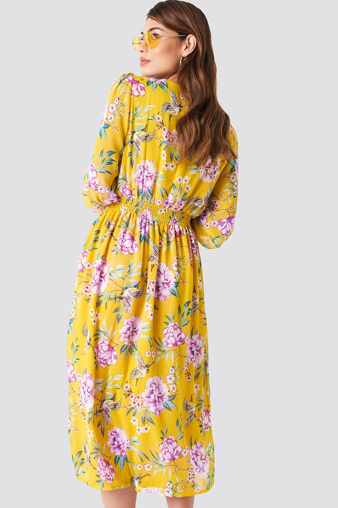 Summer Flowered Midi Dress NA-KD.COM