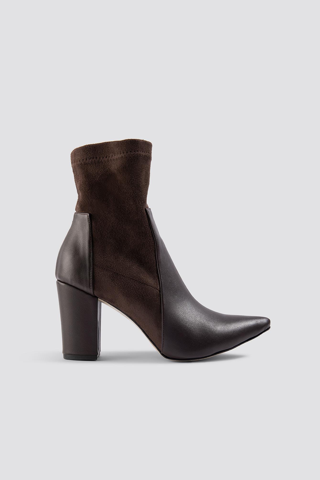 trendyol -  Taka PU Boots - Brown