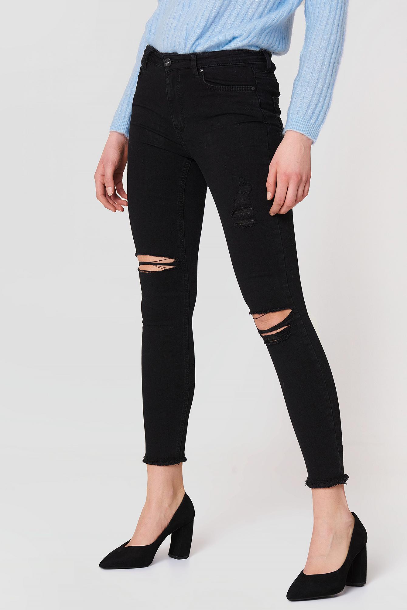 Tear Detail Jeans NA-KD.COM