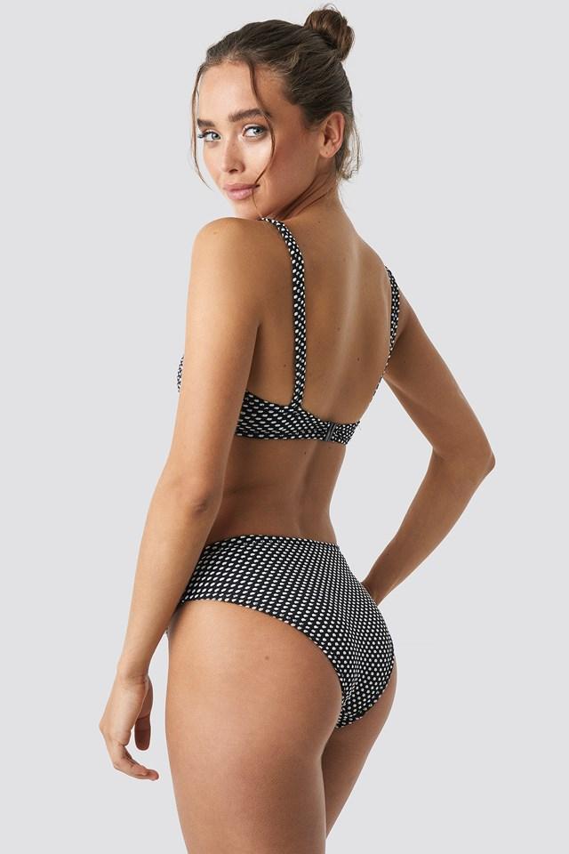 Textured Bikini Top Black