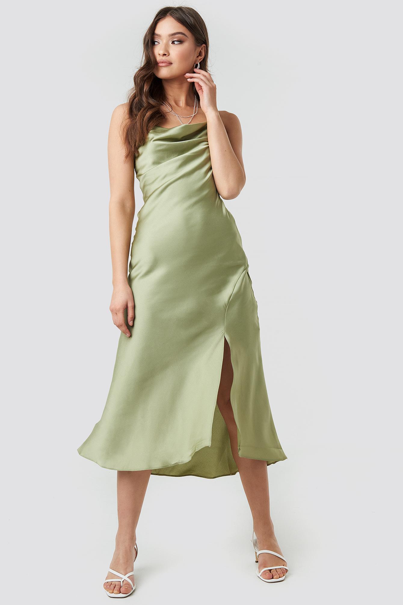 Thin Strap Midi Dress NA-KD.COM