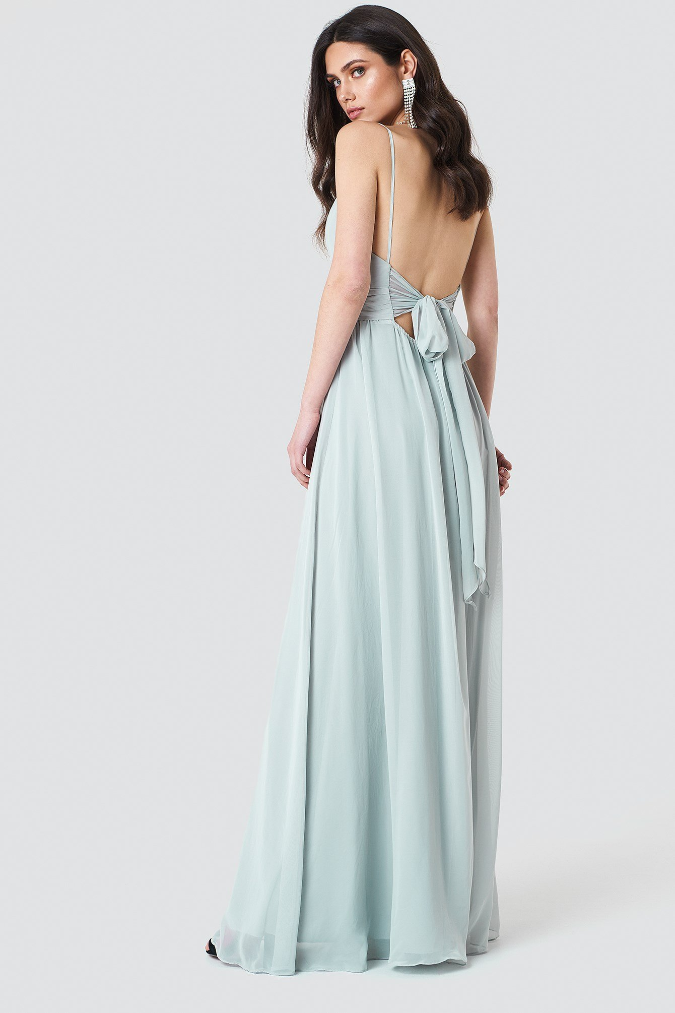 Tie Back Maxi Dress  NA-KD.COM
