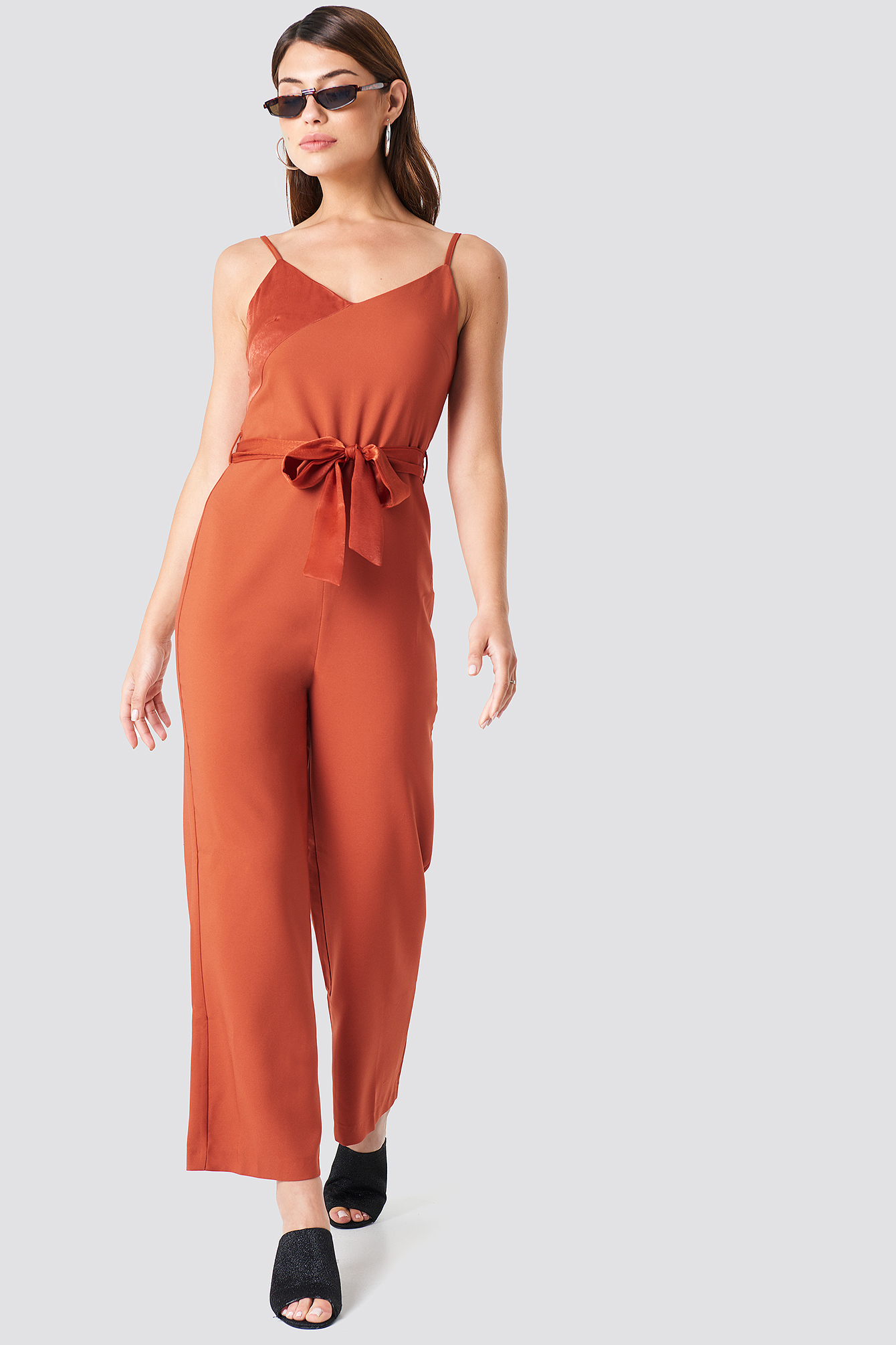 Tile Satin Detail Jumpsuit NA-KD.COM