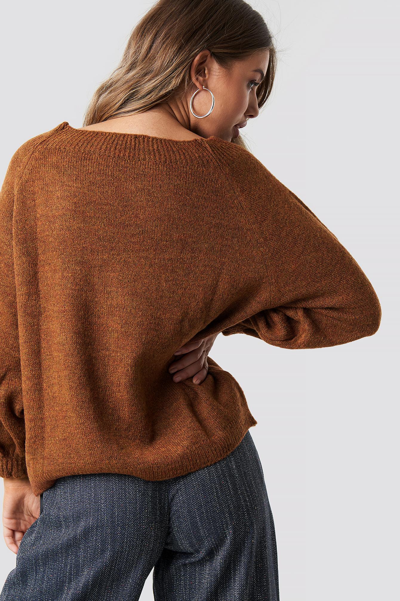 Tile Balloon Sleeve Sweater NA-KD.COM