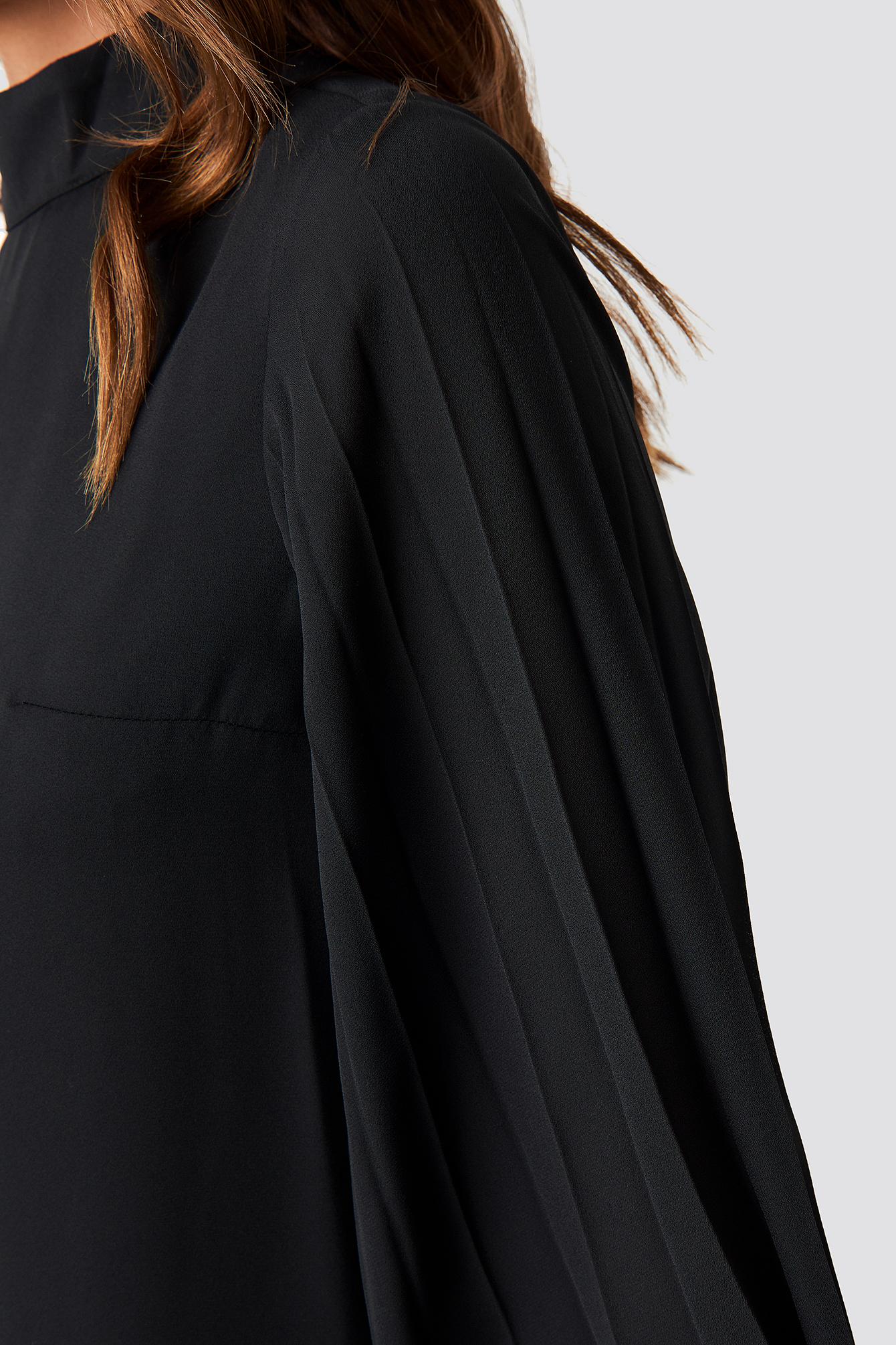 Tile Handles Pleated Dress NA-KD.COM