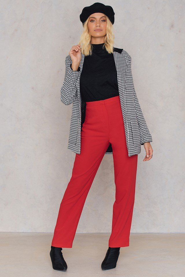 Spodnie oversize Track Red