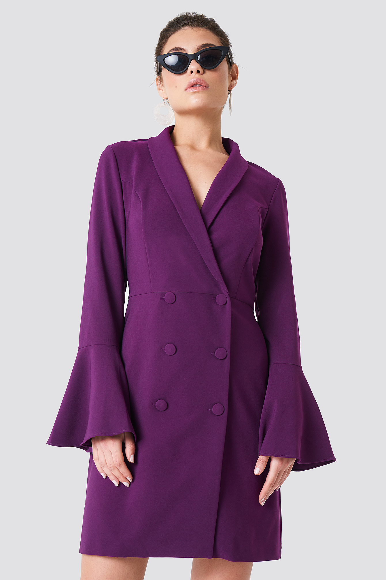 Trumpet Sleeve Blazer Dress NA-KD.COM
