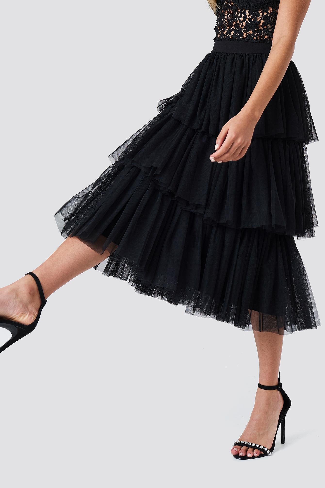 Sukienka midi z tiulem NA-KD.COM