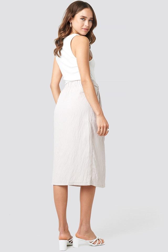 Tulum Midi Skirt Stone
