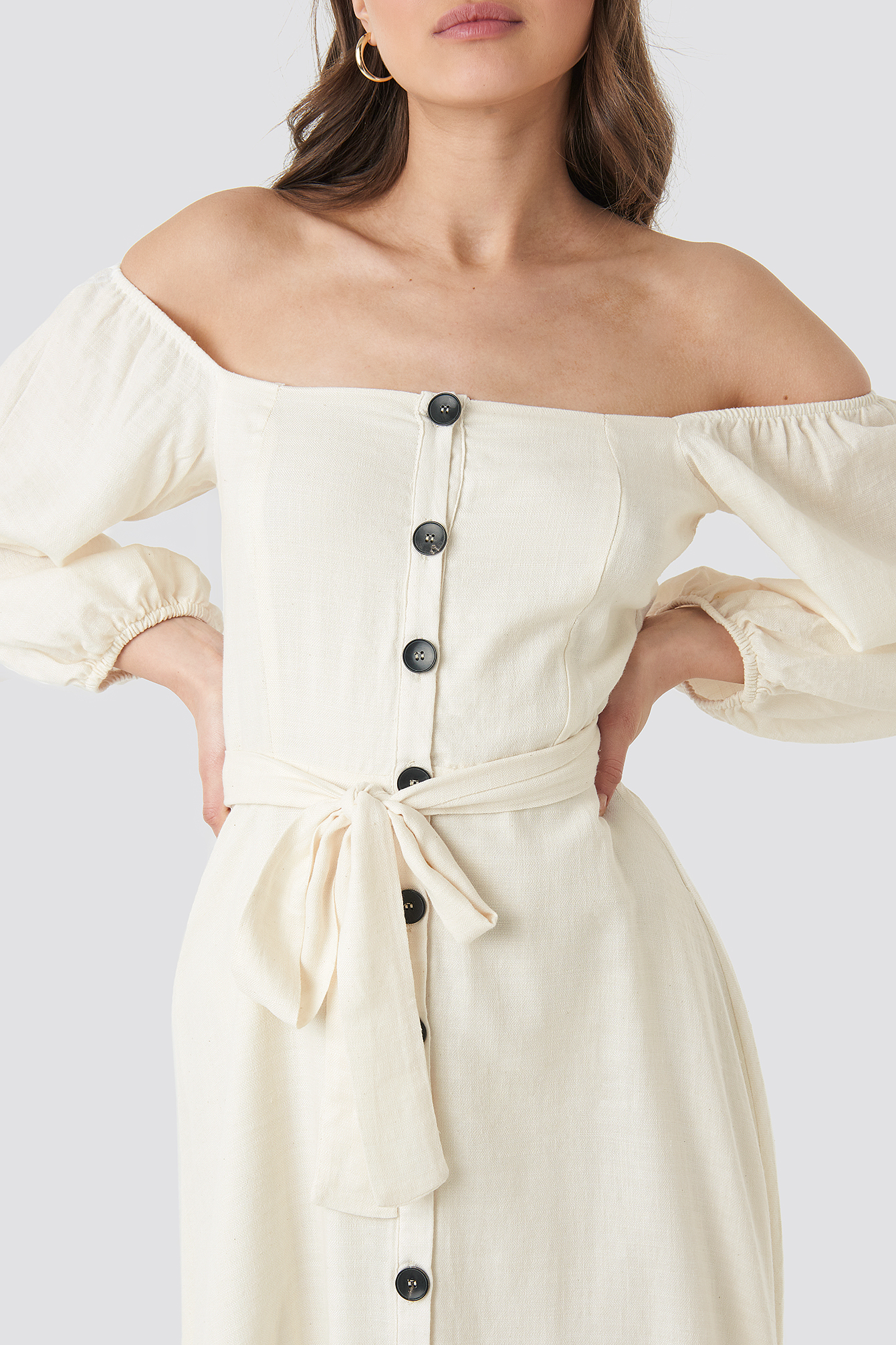 Tulum Off Shoulder Midi Dress NA-KD.COM