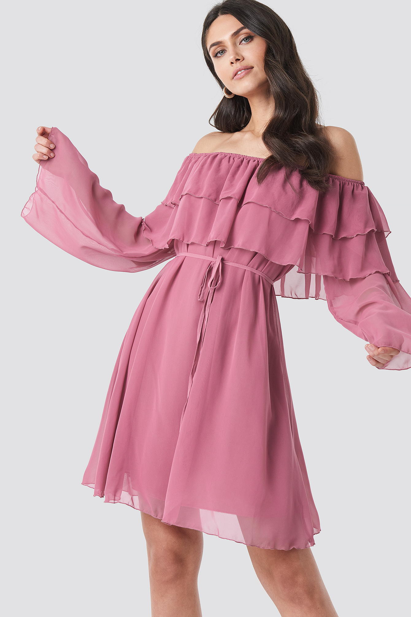 Tulum Ruffle Detail Dress NA-KD.COM