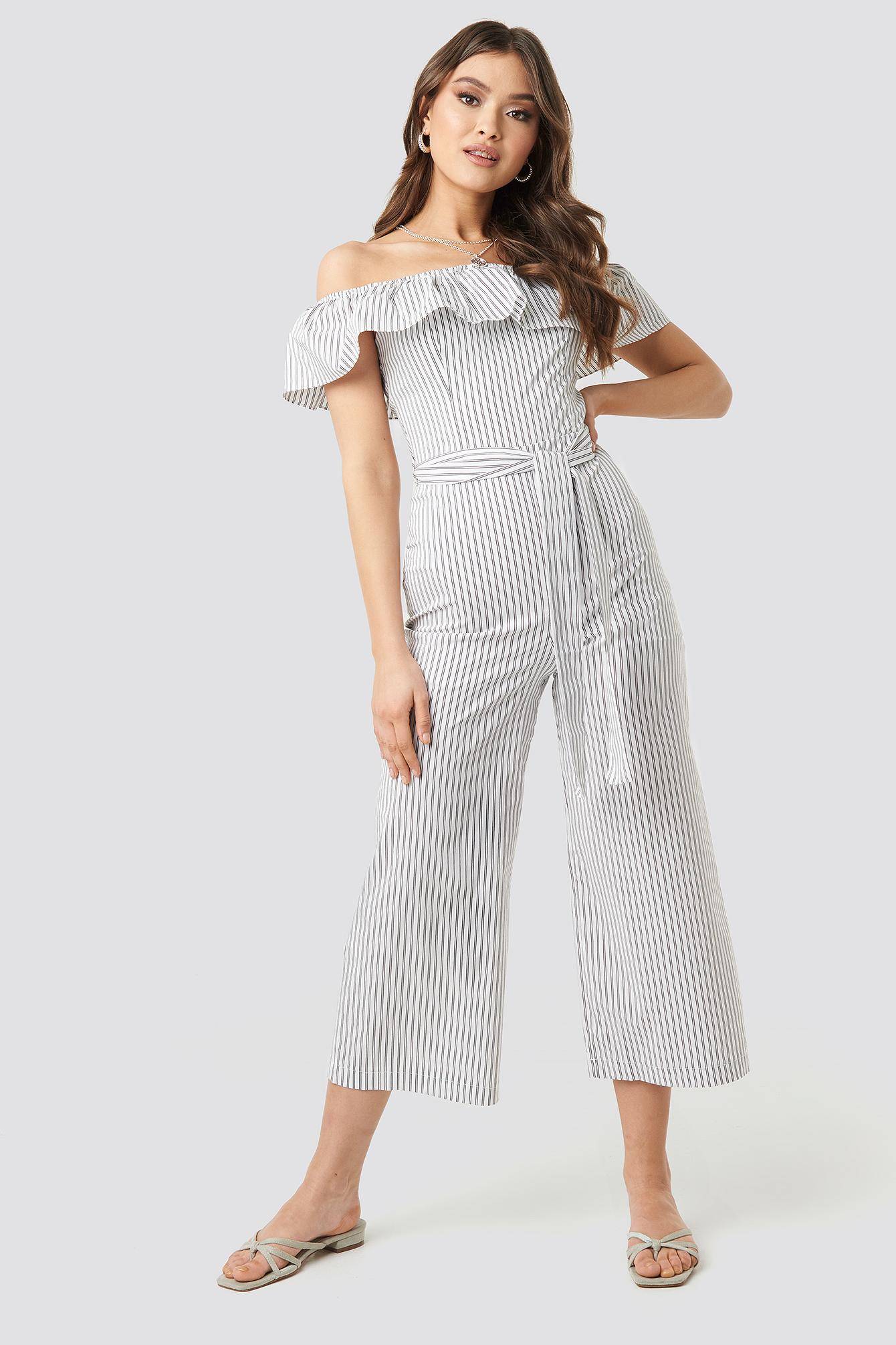 Tulum Striped Jumpsuit NA-KD.COM