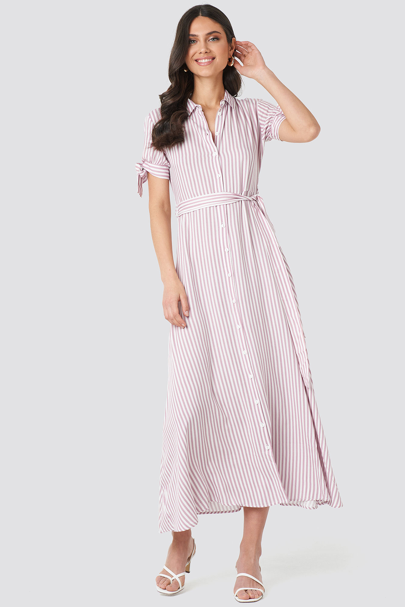 Tulum Striped Long Dress NA-KD.COM