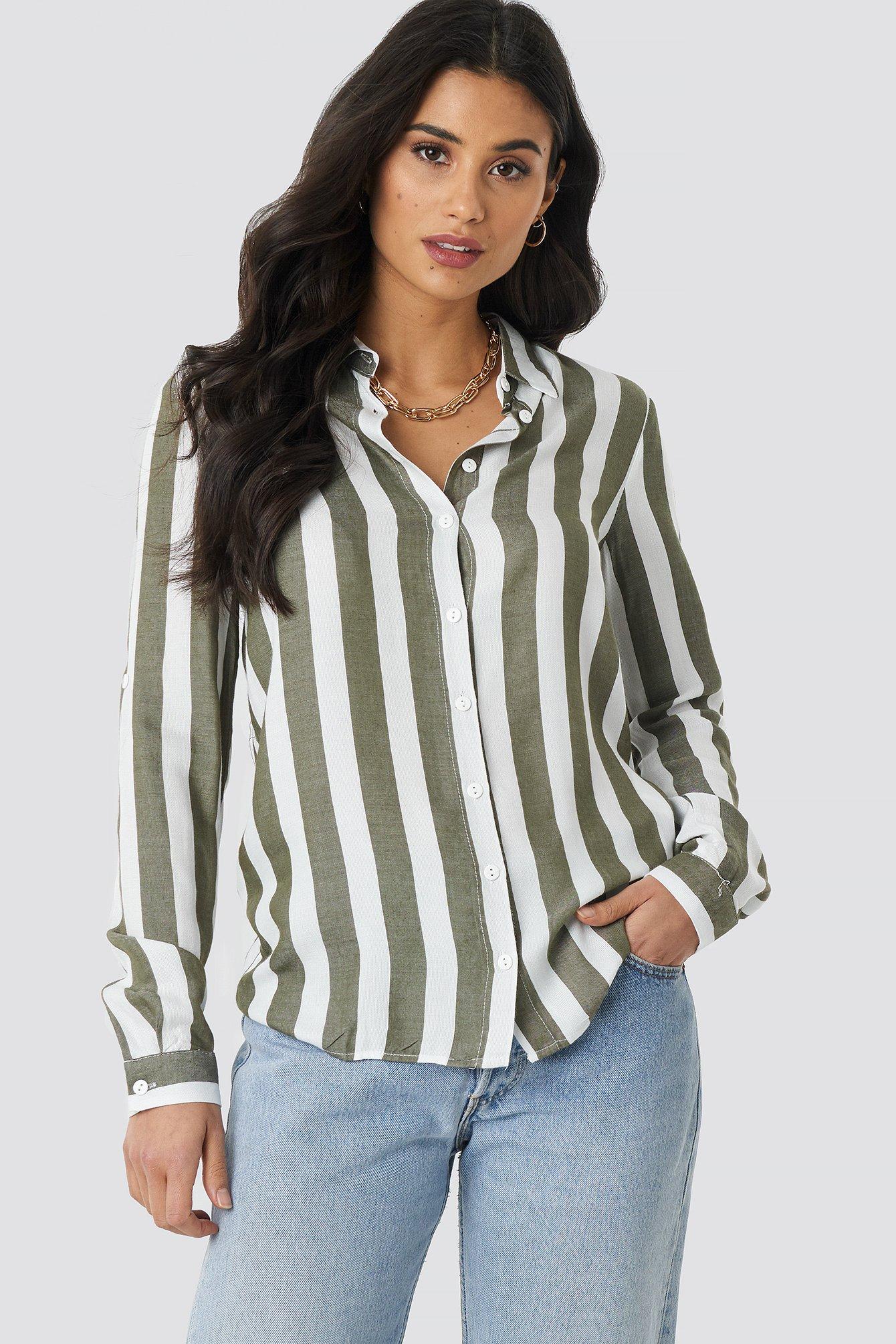 Tulum Striped Shirt NA-KD.COM
