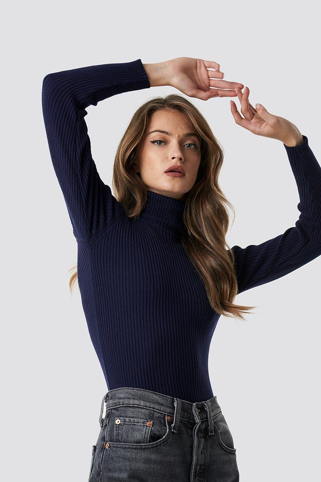 Turtleneck Knitted Sweater Trendyol