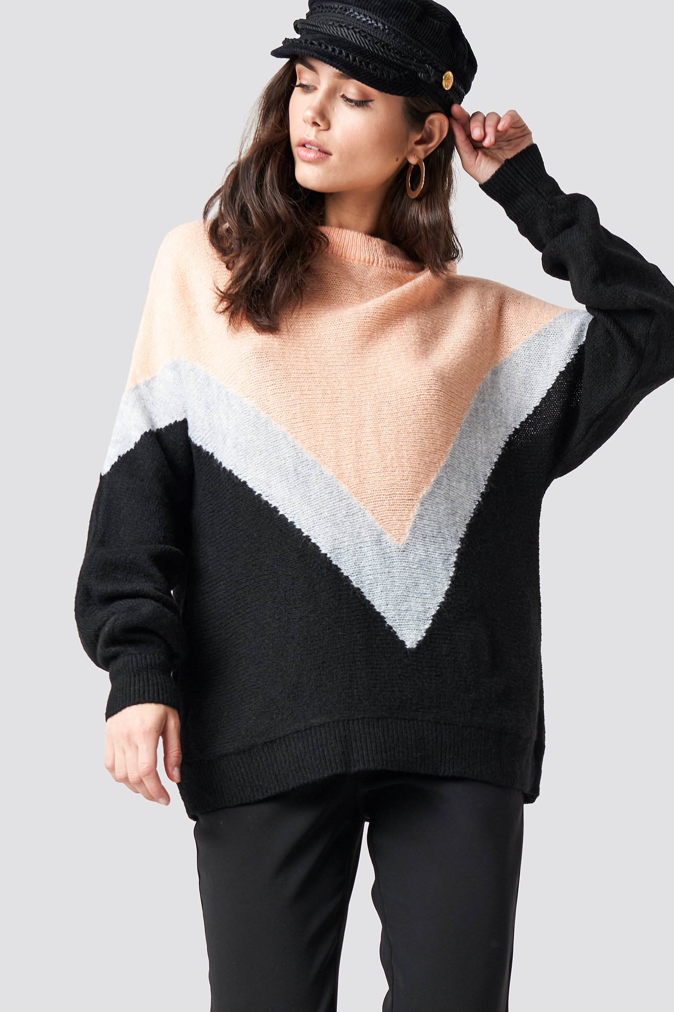 V-Block Knitted Jumper NA-KD.COM
