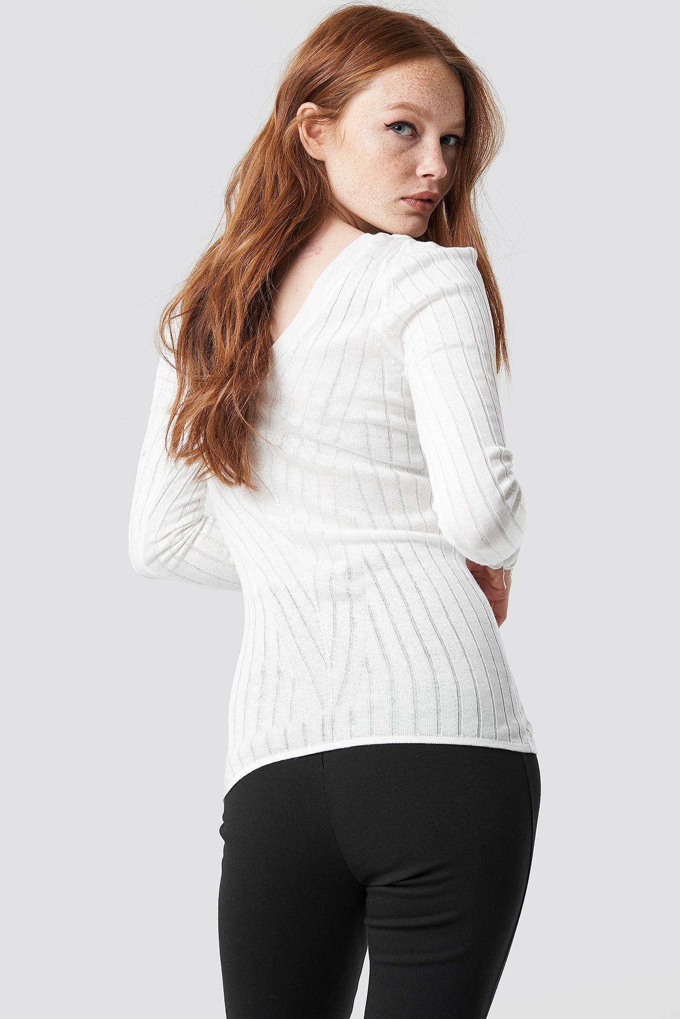 V-Neck Knitted Jumper NA-KD.COM