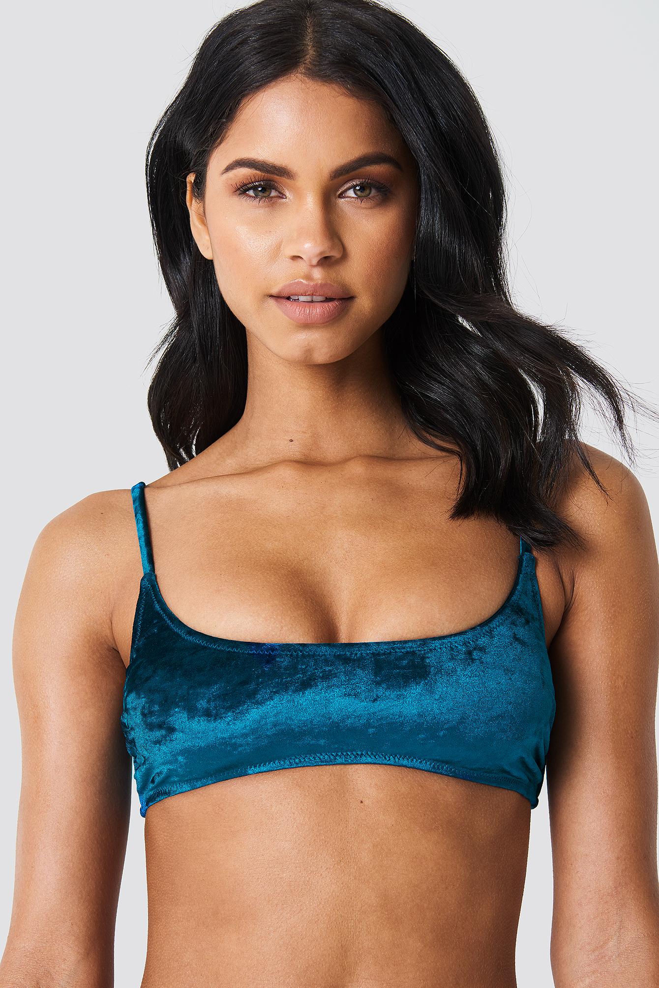 Velvet Sporty Bikini Top NA-KD.COM