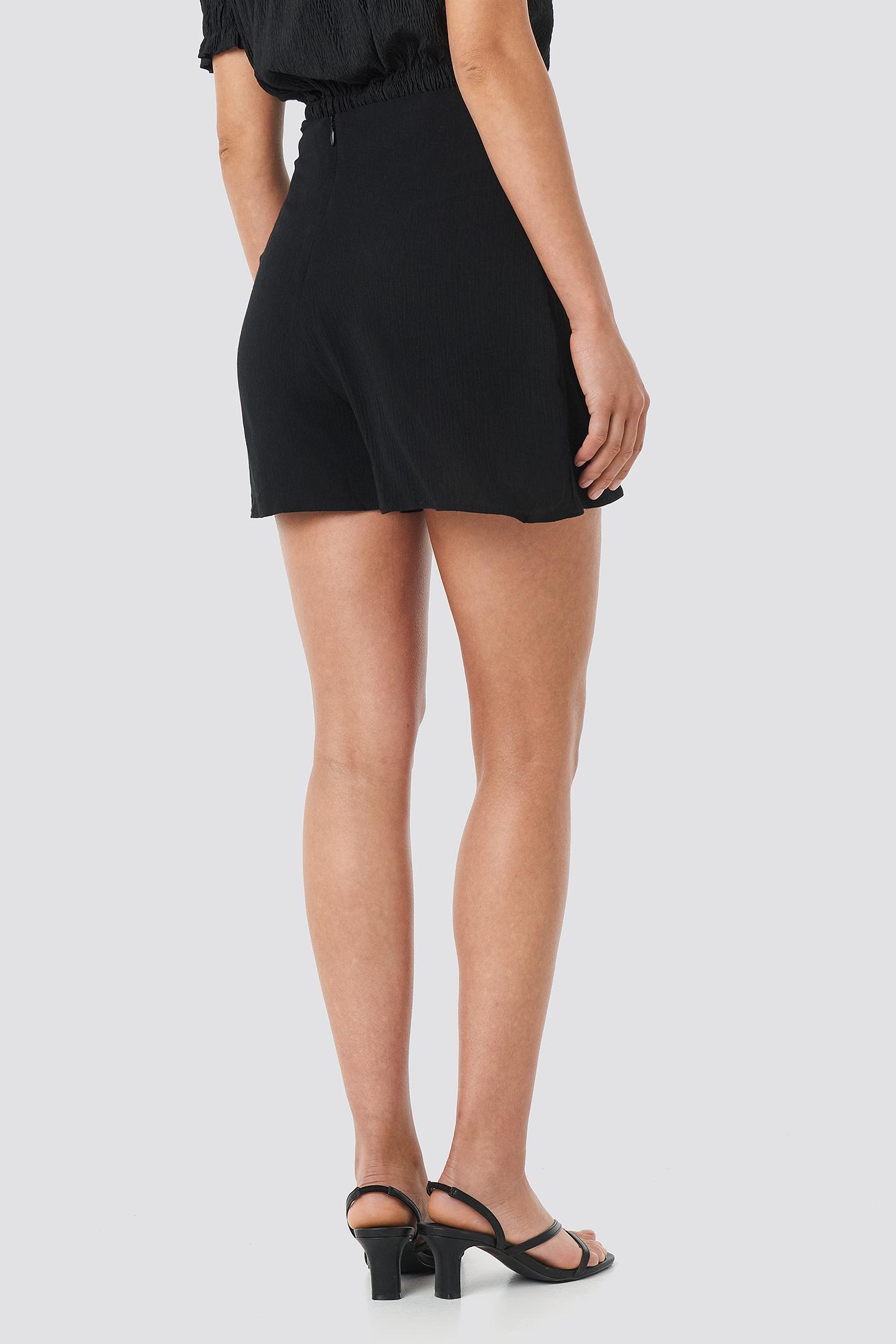 Viscose Waist Bound Shorts NA-KD.COM
