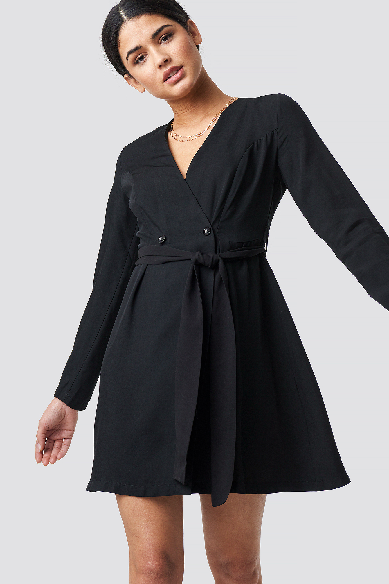 Waist Binding Detailed Dress NA-KD.COM