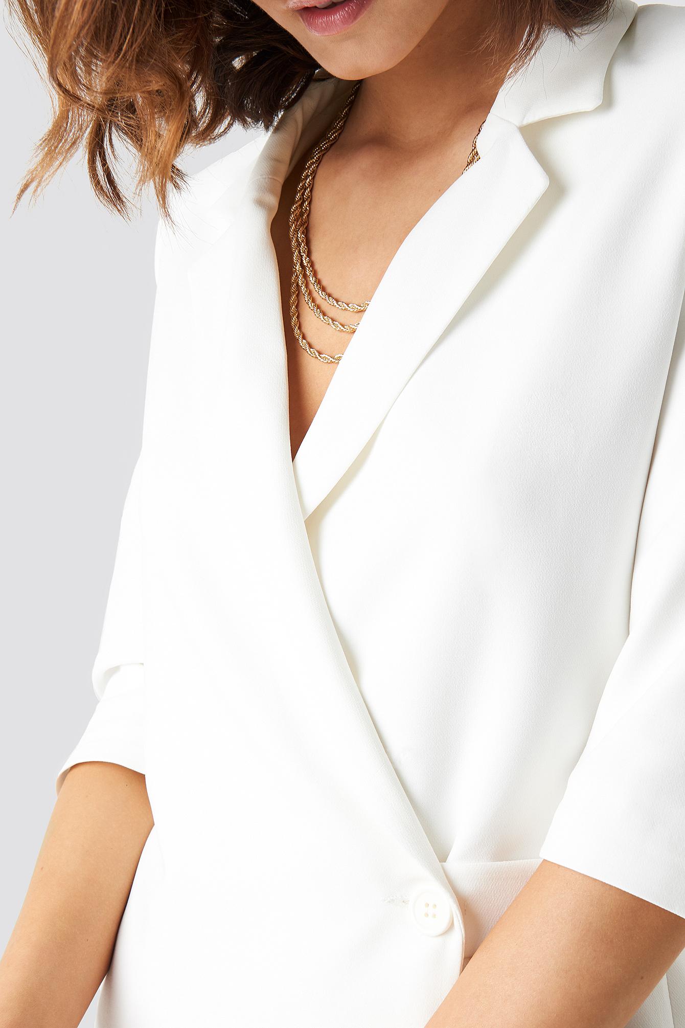 Waist Detailed Jacket Dress NA-KD.COM
