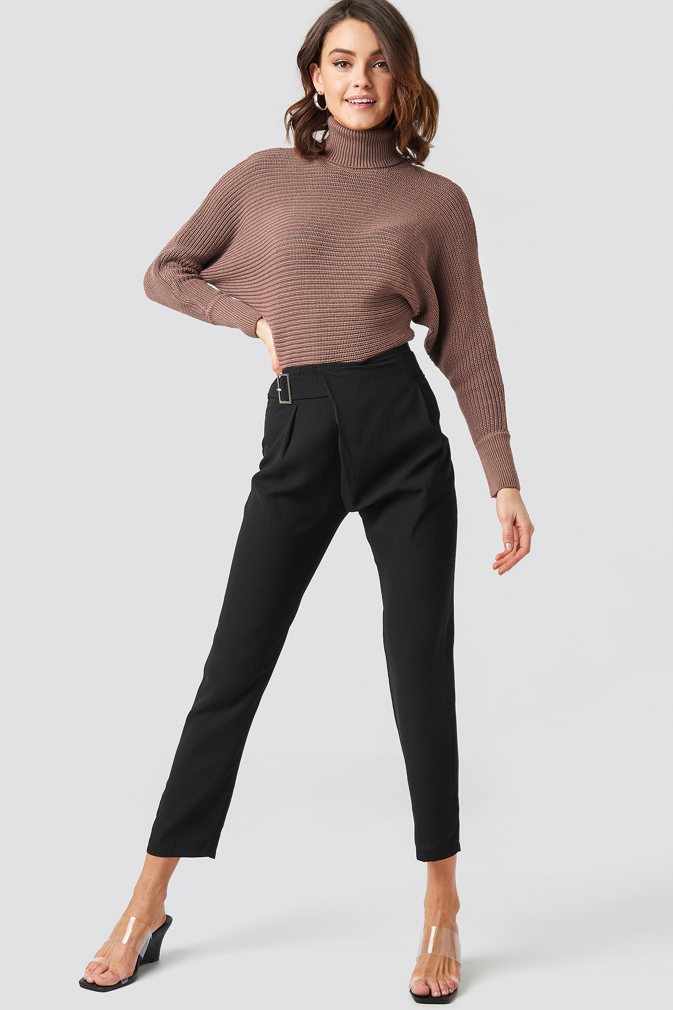 Waist Detailed Trousers NA-KD.COM