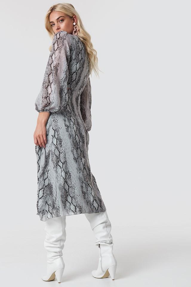 Waist Lining Dress Multicolor