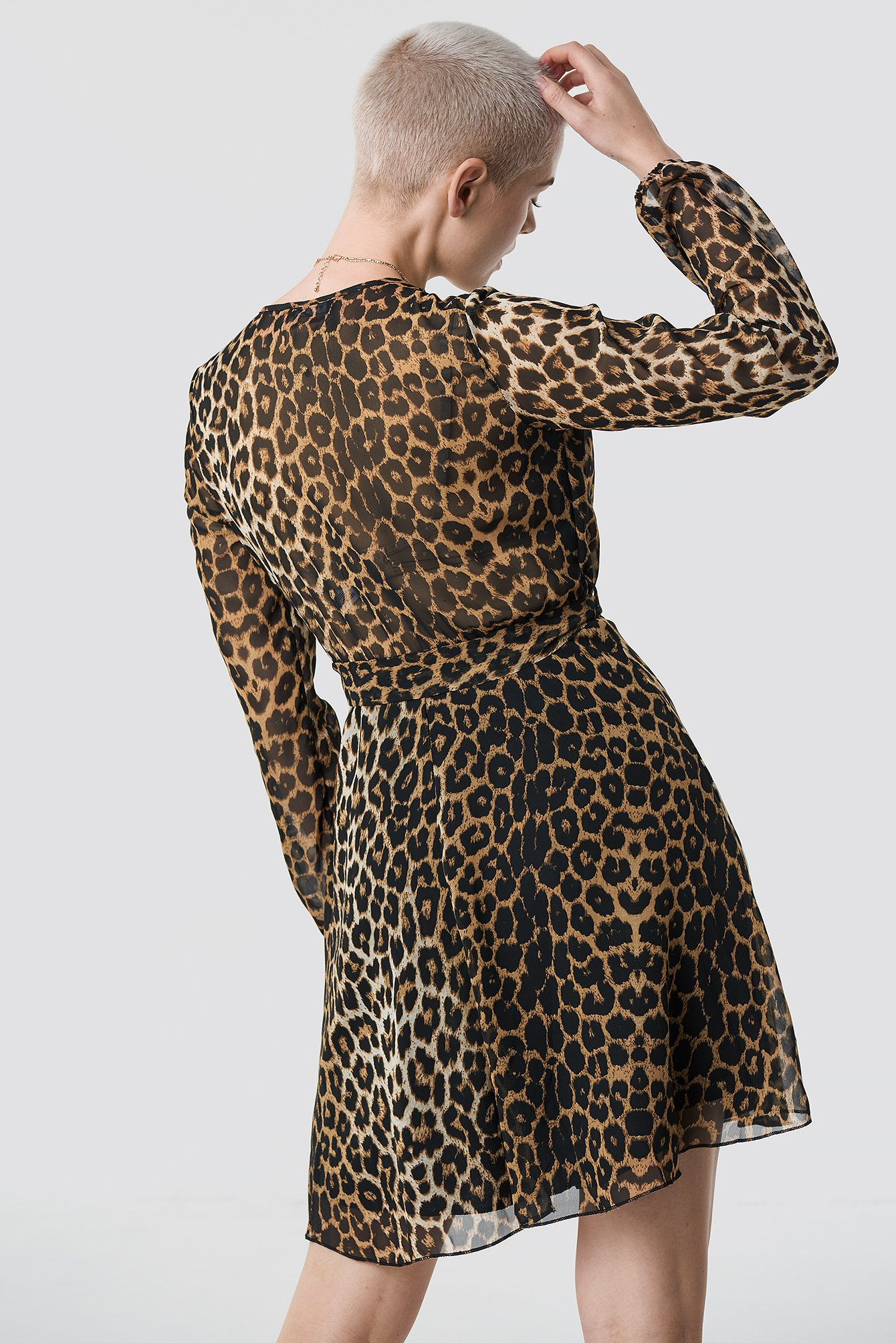Waistband Detail Mini Leo Dress NA-KD.COM