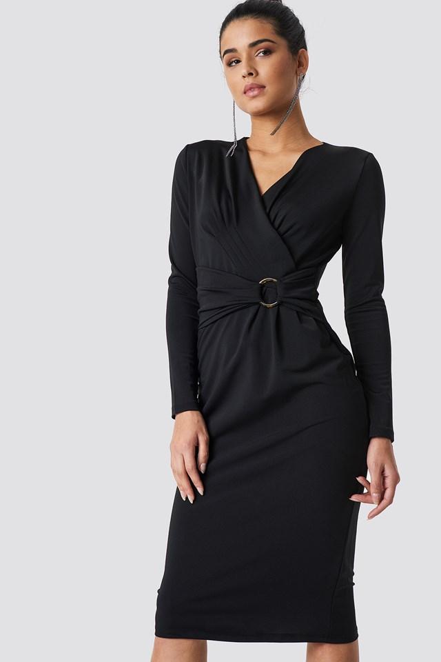 Waistband Detailed Midi Dress NA-KD.COM