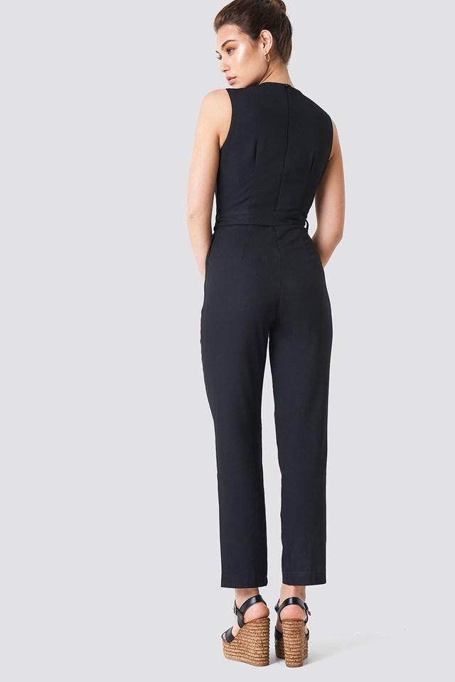 Waistband Jumpsuit Black