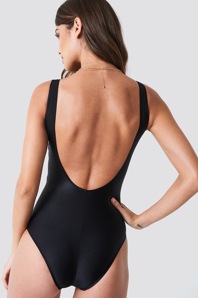 Waistknot Detailed Swimsuit Black