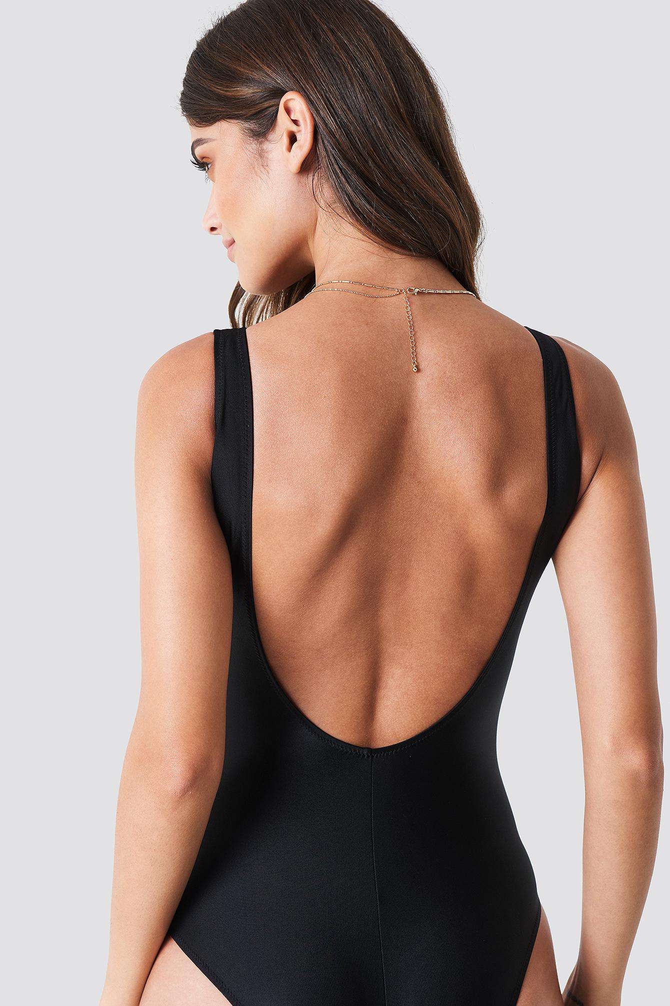 Waistknot Detailed Swimsuit NA-KD.COM
