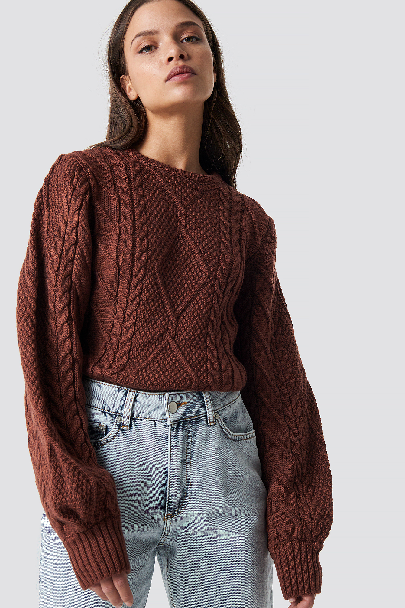 trendyol -  Weave Detailed Sweater - Red