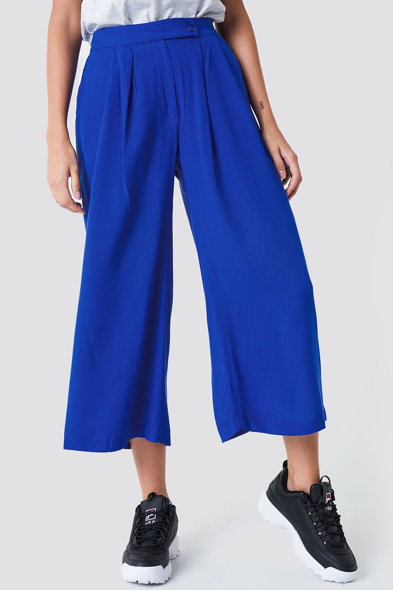 Wide Short Leg Pants NA-KD.COM