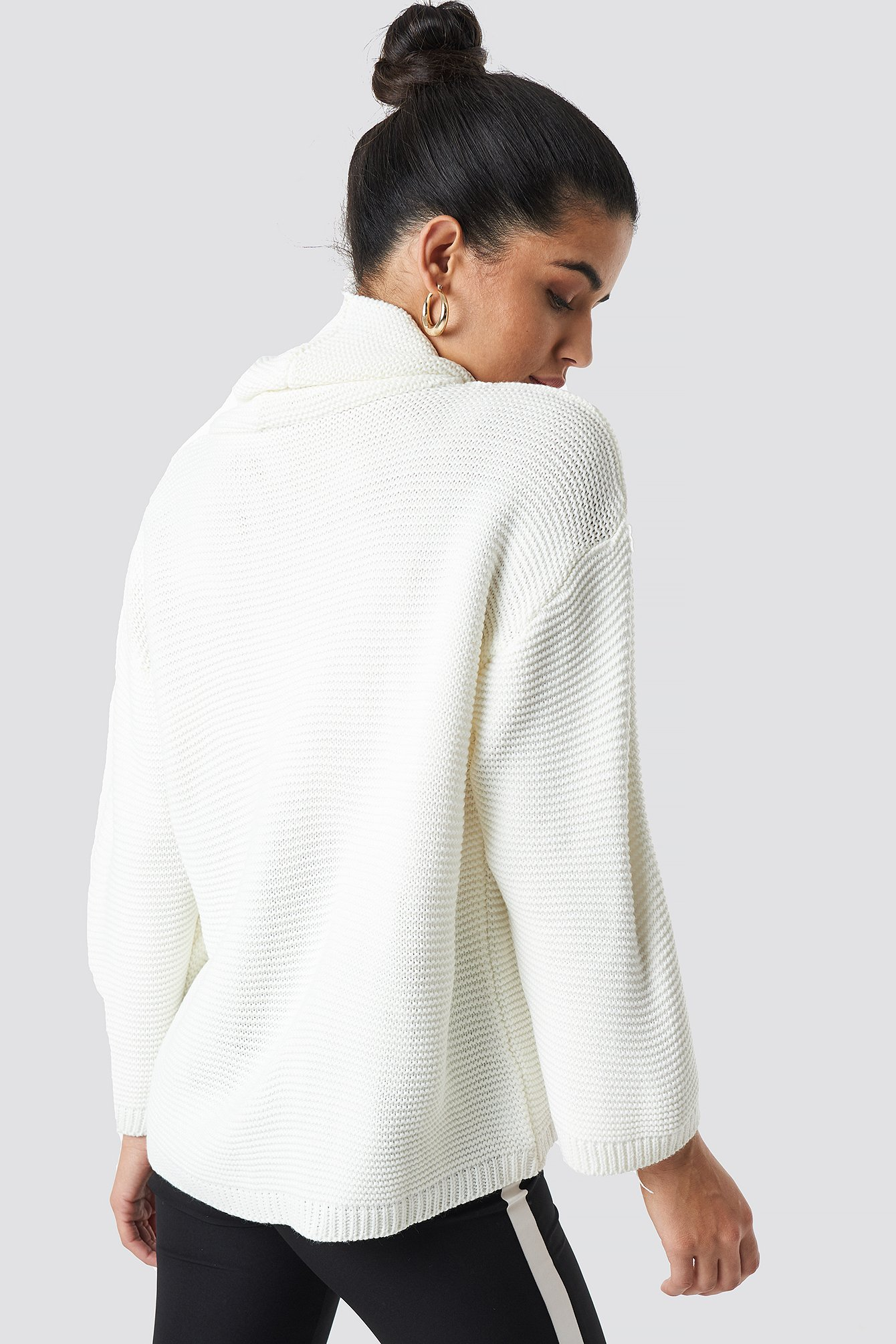 Wide Poloneck Detailed Sweater NA-KD.COM