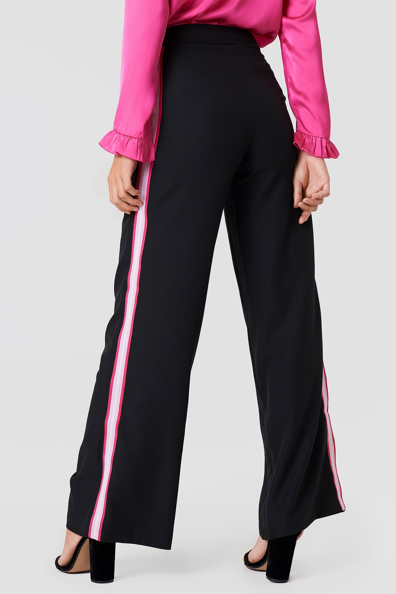 Wide Side Striped Pants NA-KD.COM