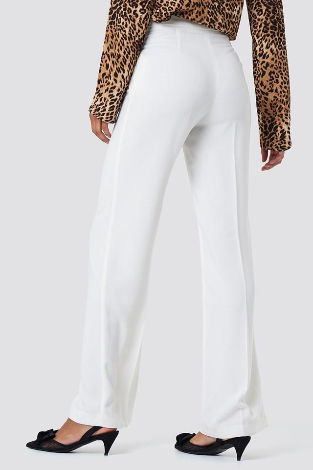 Wide Suit Pants Ecru