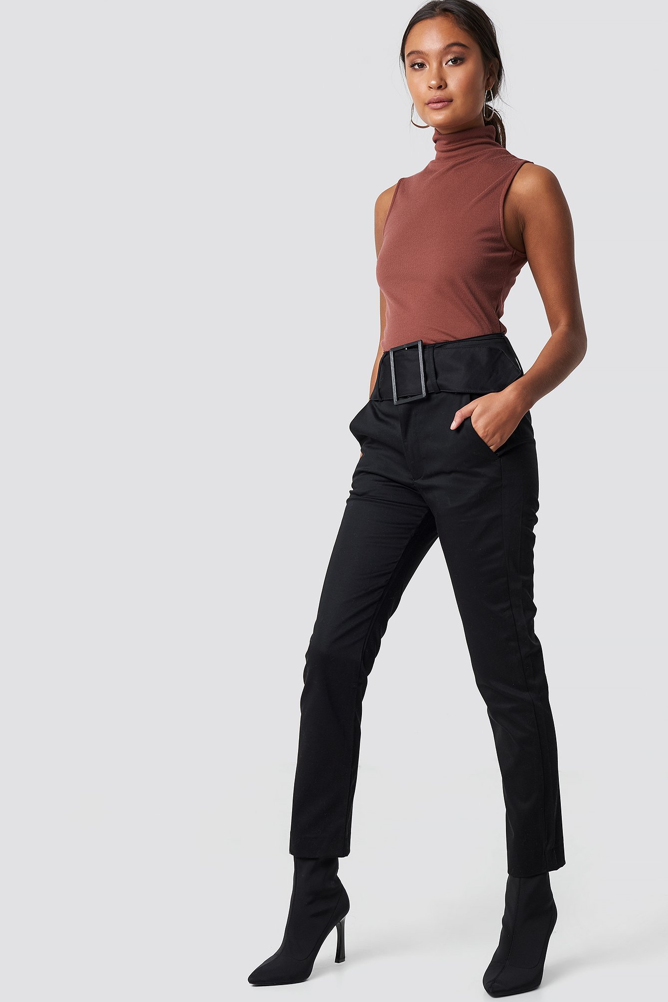 Wide Waistband Trousers NA-KD.COM